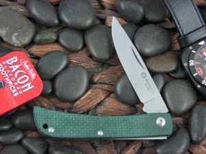 Maserin Cutlery Plow Sodbuster with Green Canvas Micarta handles 163