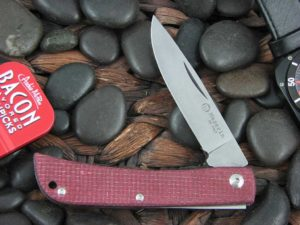 Maserin Cutlery Plow Sodbuster with Red Canvas Micarta handles 163
