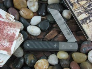 Lion Steel Sheepfoot Jack with Damasteel Super Dense Bolsters Carbon Fiber handles CK0115