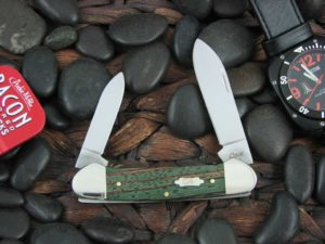 Case Knives Canoe with Green Zebra Wood handles CA70523