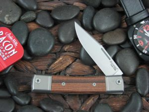 lionSteel One Blade Jack with Titanium Bolsters Santos Wood handles BM1