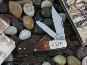 Case Knives Barlow with Brown Sawcut Bone handles CA22751