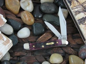 Case Knives Peanut with Cabernet Bone handles CA25723
