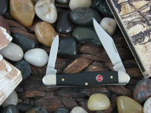 Case Knives Half Whittler with Black Synthetic handles 31273