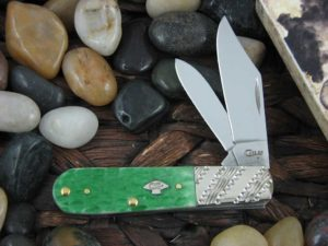 Case Knives Barlow with Emerald Green Bone handles CA53249