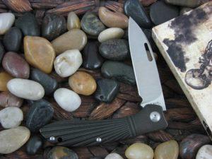 JE Made Phoenix with Black Ray Titanium handles