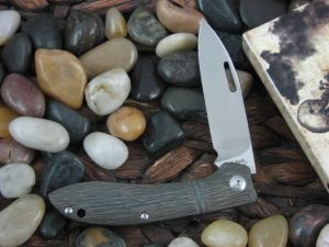 JE Made Phoenix with Tree Bark Titanium handles