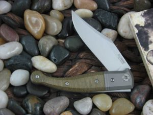 lionSteel Jack with Titanium Bolsters OD Canvas Micarta handles GT01CVG