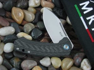 MKM lionSteel Jesper Voxnaes Colvera with Carbon Fiber handles MKLS02CT