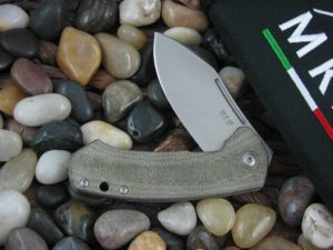 MKM lionSteel Jesper Voxnaes Colvera with Green Canvas Micarta handles MKLS02GCT