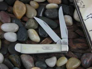 Case Knives Mini Trapper with Natural Bone handles CA13056