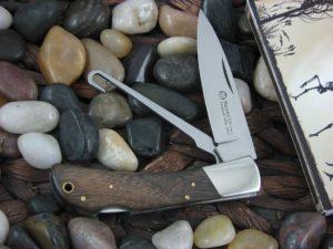 Maserin Cutlery Hunter 2 blade Walnut handles 440C steel Satin finish 126-2LGST