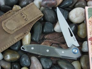 MKM Burnley Mercury Cutlery Cellina with Green Canvas Micarta handles MKMY02GCT