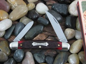 Great Eastern Cutlery Tidioute Half Congress with Blood Red Bone handles 620220