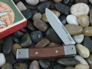 lionSteel Spear Jack with Titanium Bolsters Santos Wood handles BM2