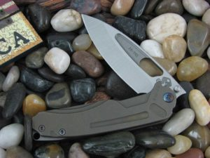 Medford Infraction Tumbled Standard Blade Bronze Ano Ti Handle
