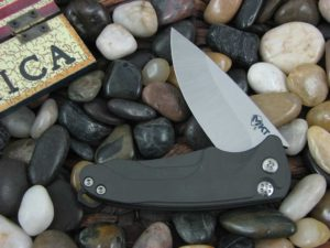 Medford Smooth Criminal Tumbled Standard Blade Gray Aluminum Handle