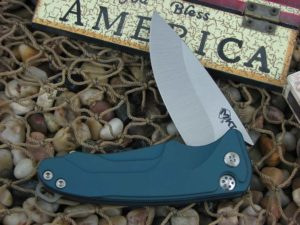Medford Smooth Criminal Tumbled Standard Blade Blue Aluminum Handle