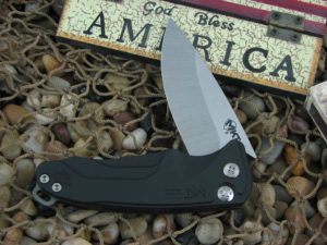 Medford Smooth Criminal Tumbled Standard Blade Black Aluminum Handle