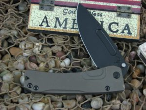 Medford Slim Midi PVD Drop Point Blade Bronze Ano Ti Handle
