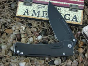 Medford Slim Midi PVD Drop Point Blade PVD Ti Handle