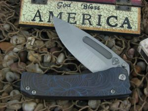 Medford Midi Marauder Tumbled Drop Point Blade Bronze Violet Ti Handle