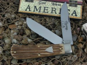 Great Eastern Cutlery Tidioute Trapper with Woodland Muslin Micarta handles 235220