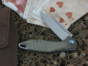 MKM Burnley Mercury Cutlery Fara with Green Canvas Micarta handles MKMY01GC