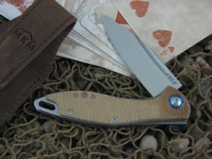 MKM Burnley Mercury Cutlery Fara with Natural Canvas Micarta handles MKMY01NC