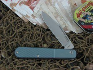 lionSteel Barlow Jack with Oblique Blue Anodized Titanium handles CKS0112BLO