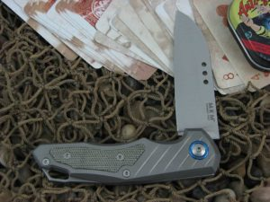 MKM Anso Root with Titanium Frame with Green Micarta Insert MKRTGCT