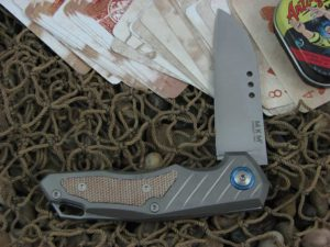 MKM Anso Root with Titanium Frame with Natural Micarta Insert MKRTNCT