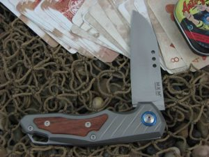 MKM Anso Root with Titanium Frame with Santos Wood Insert MKRTST