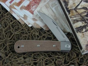 Viper Knives Swayback Jack with Natural Canvas Micarta handles VPCK0616CN
