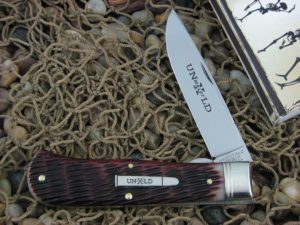Great Eastern Cutlery Pioneer Trapper Linerlock Northfield Redtail Jigged Bone 235120L