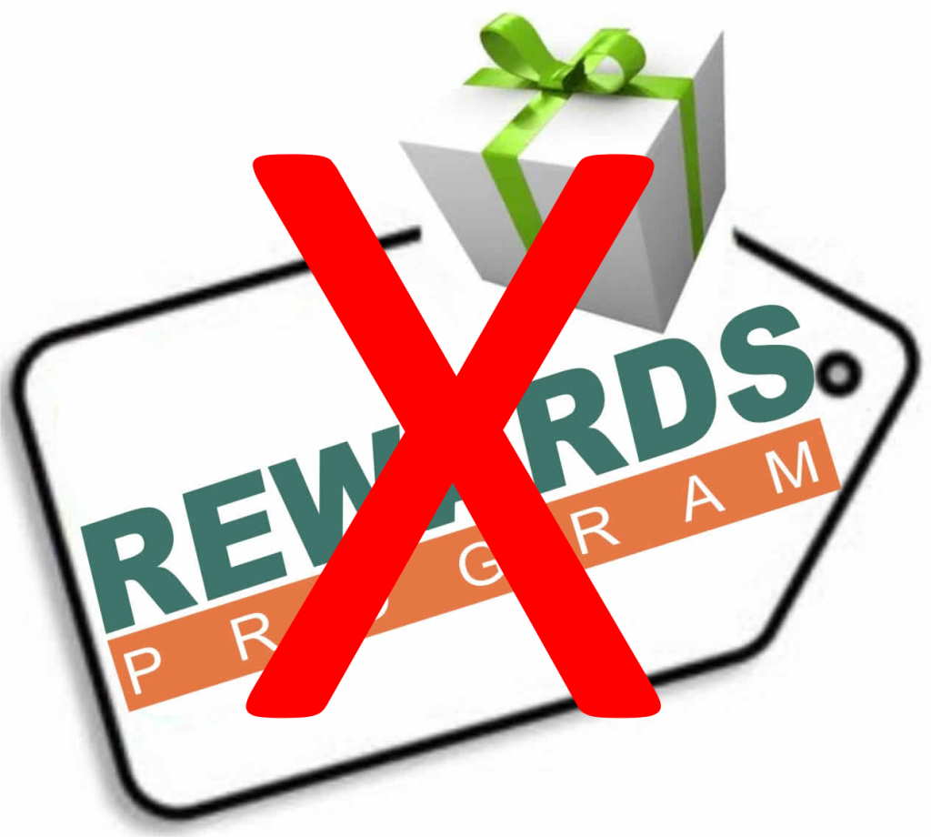 Discontinuing Rewards Accumulation