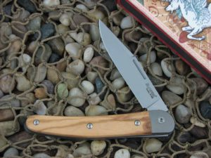 lionSteel Cutlery Jack with Titanium Bolsters Olive Wood handles JK1UL