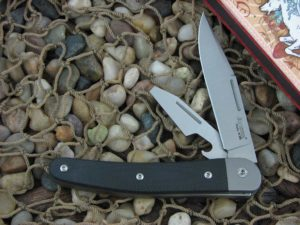 lionSteel Cutlery Jack with Titanium Bolsters Black G10 handles JK2GBK
