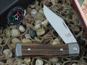 Fox Cutlery Gunstock with Titanium Bolsters Bocote Wood handles FXCK01BC