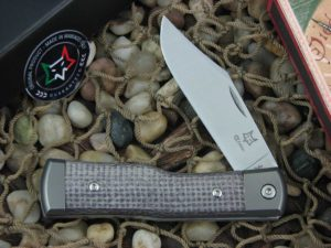 Fox Cutlery Gunstock with Titanium Bolsters Bison Micarta handles FXCK01BI